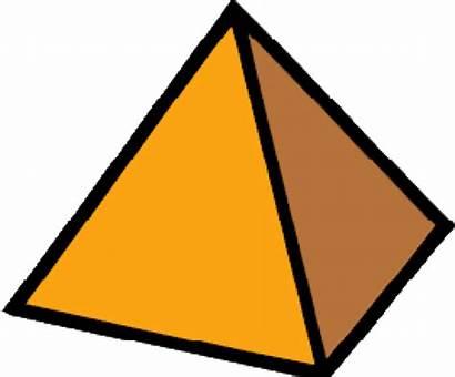 Triangle Pyramid Clipart Object Shaped Transparent Cartoon