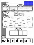 new sight word worksheets numbers colors shapes kaylee 39 s - Free Color Word Worksheets