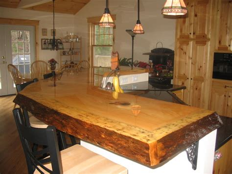 kitchen bar top ideas custom made rustic bar top by timeless woodworking