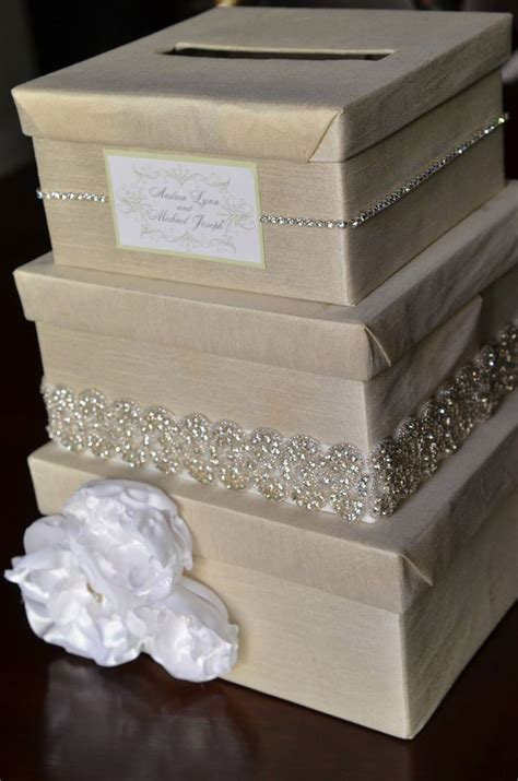 diy wedding card box i would do ivory and coral but