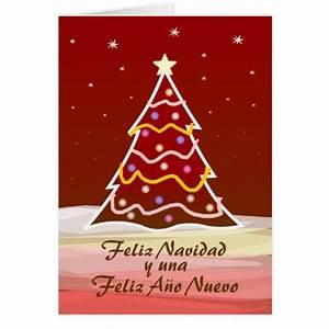 Noel En Espagnol : arbre de no l espagnol carte de v ux zazzle ~ Preciouscoupons.com Idées de Décoration