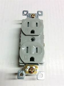 100 Pc 15a Standard Duplex Receptacles 15 Amp Tamper Resistant Tr Outlets Gray