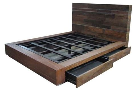diy platform bed design plans  king size bed