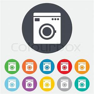 Weichspüler Symbol Waschmaschine : waschmaschine symbol haushaltsger te symbol vektorgrafik colourbox ~ Markanthonyermac.com Haus und Dekorationen