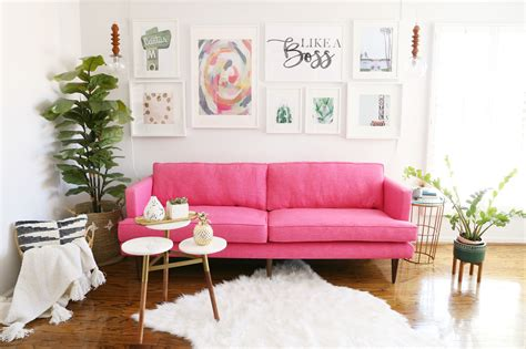 Pink Loveseat by Modern Ranch Reno The Sofa For My Office