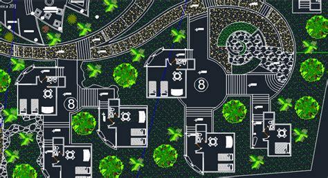 ecological tourist center  dwg design plan  autocad designs cad