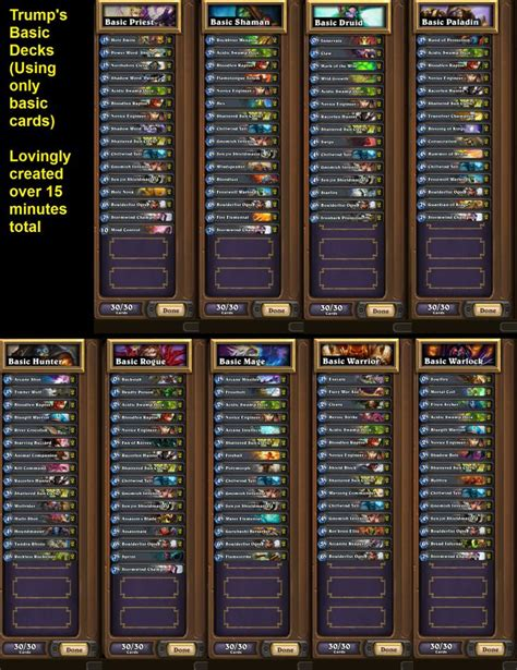 hearthstone decks basic hearthstone basic deck from mah outs