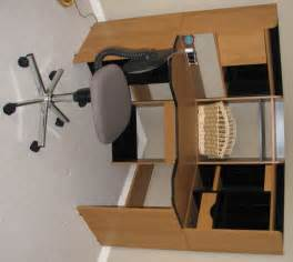 wonderful modern corner computer desk home office in oak