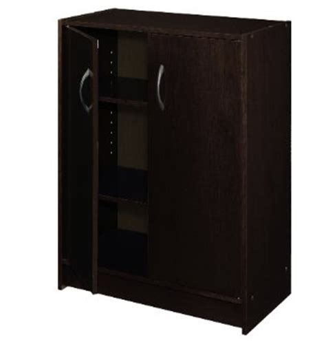closetmaid jumbo storage cabinet 8925 closetmaid 2 door laminate stackable organiser espresso