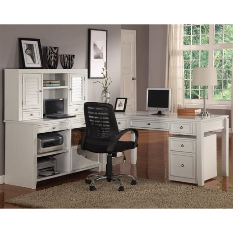 l shaped desk and hutch have to have it parker house boca l shaped desk with