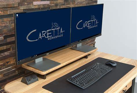 desk with monitor shelf loft desktop riser shelf ash caretta workspace