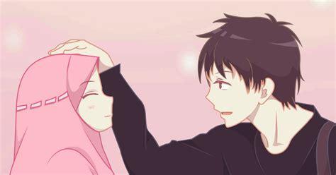 gambar kartun romantis muslim gambar kartun