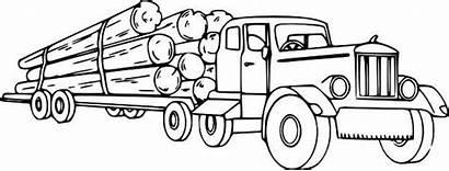 Semi Truck Coloring Pages Printable Logging Trucks