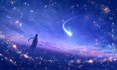 Beautiful Anime Wallpaper Hd - anime original dreamy constellations artwork hd anime 4k