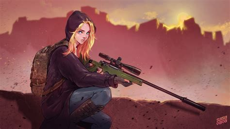 1360x768 Pubg Game Girl Fanart Laptop Hd Hd 4k Wallpapers, Images, Backgrounds, Photos And Pictures