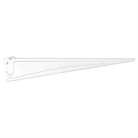 closetmaid shelftrack bracket closetmaid shelftrack 16 in x 5 in white shelf bracket