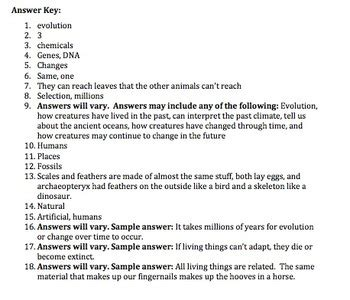 Bill Nye Evolution Video Worksheet By Mayberry In Montana Tpt