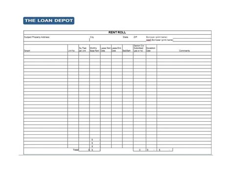 rent roll template 47 rent roll templates forms template archive