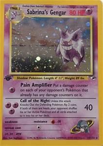 Free: Pokemon Sabrina's Gengar Holographic Card - Trading ...