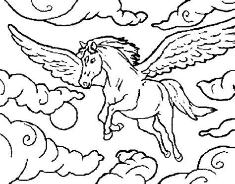 disegno  cavalli alati da colorare