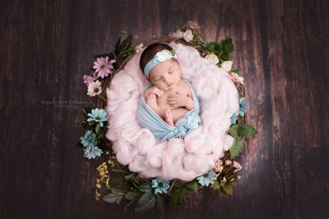 beautiful photo props handmade newborn baby photography