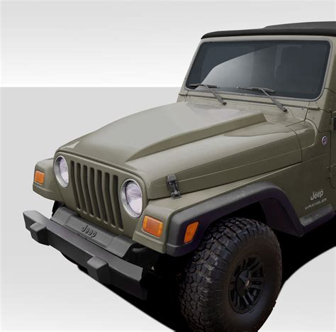jeep hood duraflex jeep wrangler hoods now available pirate4x4