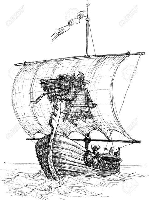 Viking Boat Drawing by 29234213 Boat Drakkar Sketch Viking Jpg 965 215 1300