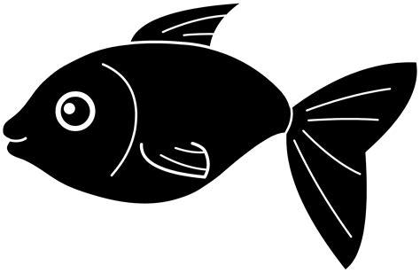 fish clipart black fish silhouette free clip