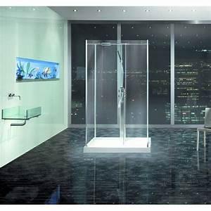 douche en ilot entierement vitree et sans porte walk in With porte de douche vitrée