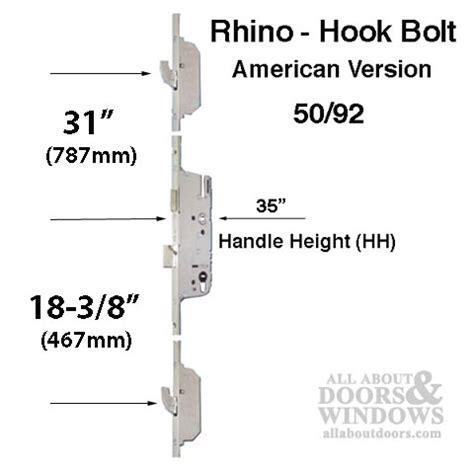 rhino  active  point hook bolt   ferco silver ferguard