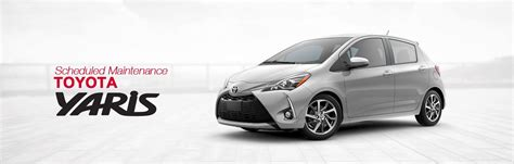 Toyota Service Schedule by Toyota Yaris Scheduled Maintenance South Dade Toyota Of