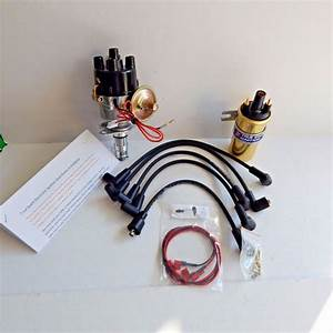 New Electronic Ignition Distributor Sport Coil  U0026 Wires Mga Mgb Negative Ground