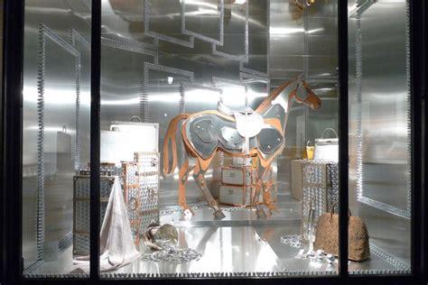 hermes   metal horse window display paris