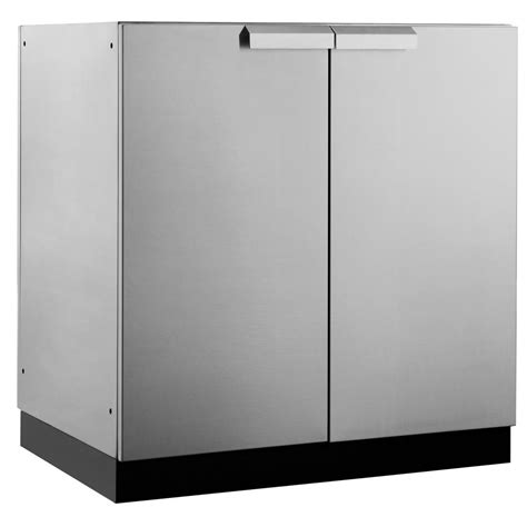 stainless steel kitchen storage cabinets newage products stainless steel classic 32 in 2 door base