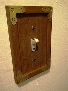 Vintage Wooden Light Switch Cover