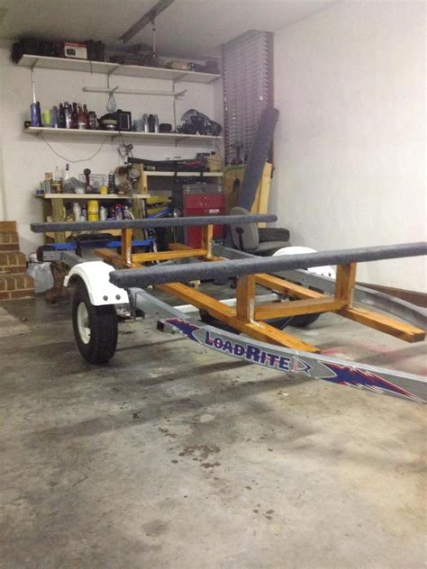 Convert A Boat Trailer To Pontoon Trailer by Convert Trailer For Kayaks Topic Converted Jet Ski
