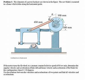The Elements Of A Power Hacksaw Are Shown In The F ...