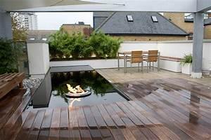 Brasero De Terrasse : deck de terrasse miroir d 39 eau et brasero jeux d 39 eau ~ Premium-room.com Idées de Décoration