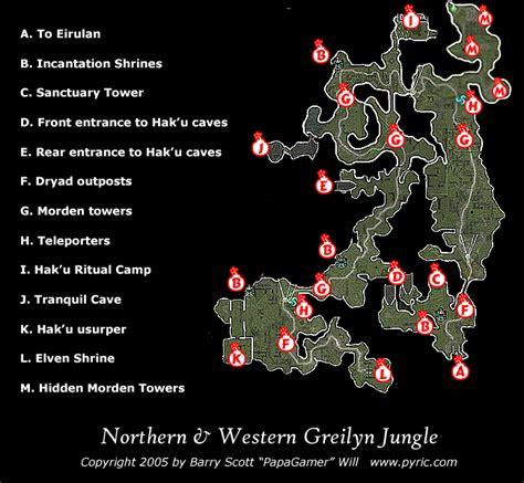 dungeon siege map dungeon siege ii northern greilyn map png