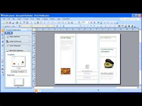 microsoft publisher  modifying  brochure youtube
