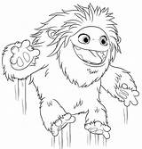 Abominable Yeti Coloring Pages Printable Everest Jumping категории из раскраски все sketch template