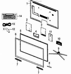 Parts For Samsung Un65d8000xfxza  Lcd Tv Cabinet Parts