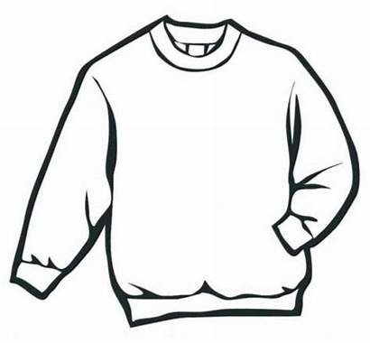 Coloring Jumper Winter Clothes Pages Drawing Sweater