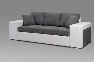 canape design 3 places en tissu gris perrine canape en With canapés en tissus design