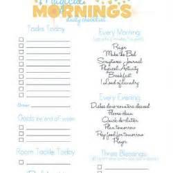 Blank Printable Daily Checklists