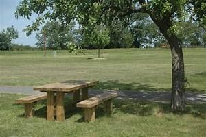Table Et Banc En Bois : table banc en bois en am nagement ext rieur ~ Melissatoandfro.com Idées de Décoration
