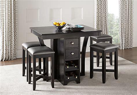 ellwood black  pc bar height dining set casual