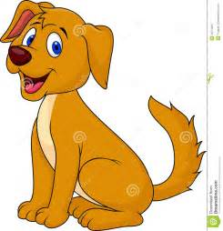 Cute Cartoon Dog Sitting