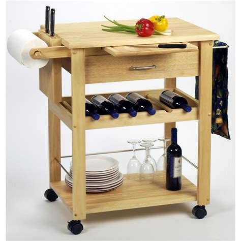 kitchen islands with wine racks winsome beechwood kitchen cart with wine rack 151040