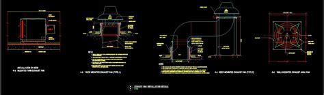Exhaust Fan Installation Details DWG Detail for AutoCAD